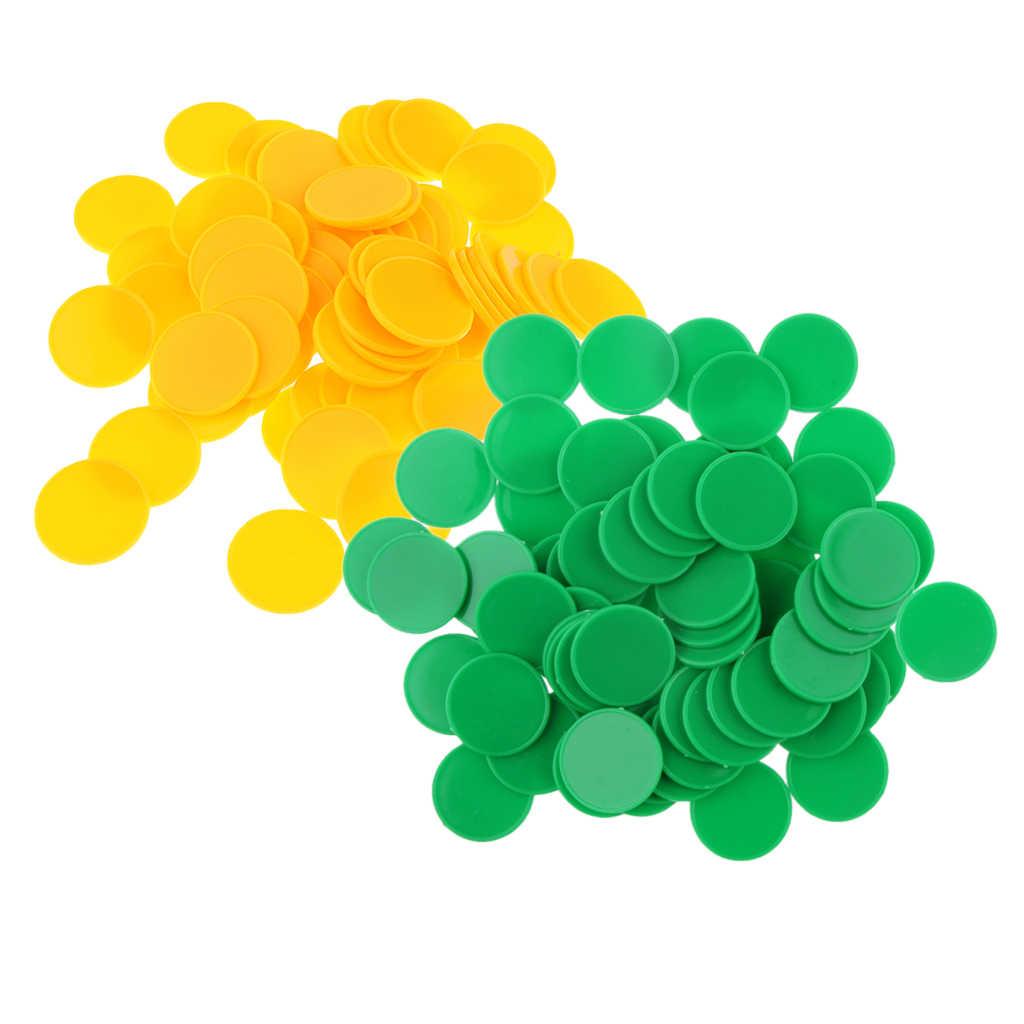 Di Động 2 Bộ/200 Viên Nhựa Dấu Cóc Cho Đảng Thanh Game 25X2 Mm