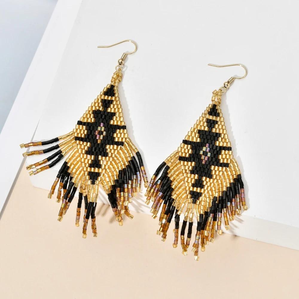 Tassel Dangle Earrings Statement Earrings tassel jewelry boho earrings handmade earrings boho tassel earrings dangle earrings