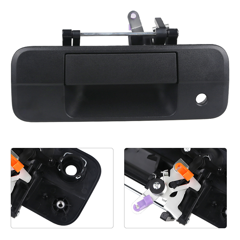 Tailgate Handle Liftgate Latch with Keyhole For Toyota Tundra 2007-2013 Rear Exterior Textured Tailgate Liftgate 690900C040