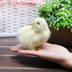 Image 4 - Realistische Harige Baby Chick Levensecht Geluid Kip Pluche Fur Animal Lente Pasen Voor Gift