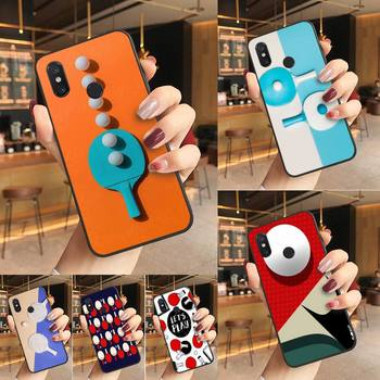 Yinuoda pingpong Soft black Phone Case Phone Case For Redmi K20 Note 5 7 7a 6 8 Pro note 8T 9 Xiaomi Mi 8 9 SE image