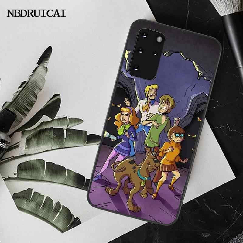 Nbdruicai スクービードゥー電話ケースのカバー S20 プラス超 S6 S7 エッジ S8 S9 プラス S10 5 グラム