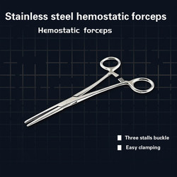 12.5-20CM Haemostatic Forceps Clip Scissors Hemostat Artery Surgical Cupping Clamps Fishing Scissors Pet Feather Picking Clips