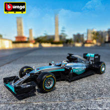 Bburago 1:18 F1 W07 Mercedes Benz NO6 manufacturer authorized simulation alloy car model crafts decoration collection toy tools