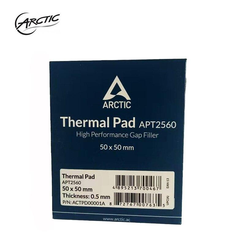 Original ARCTIC Thermal Pad 6.0 W/mK Conductivity 0.5mm 1.0mm 1.5mm Thickness High Efficient Thermal Pad 50x50mm