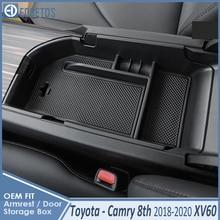 Dla Camry schowek na rękawiczki w samochodzie organizator podłokietnik przechowywania wtórnego taca konsoli środkowej dla Toyota Camry 2012 2017 dla Camry 2018 2020