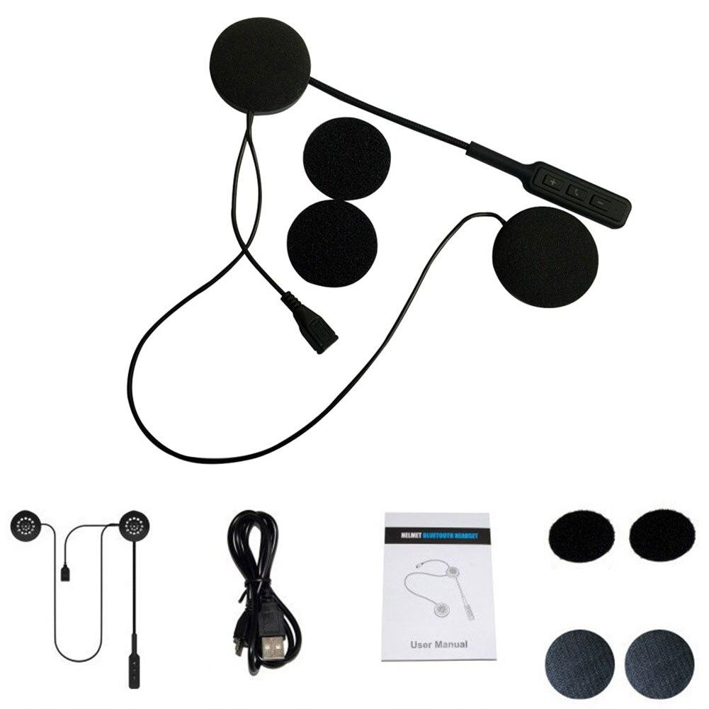 With Microphone Smart Universal Motorbike Reminder Portable Wireless Bluetooth Helmet Headset Hands Free Earphones Motorcycle