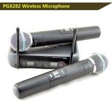 Livraison gratuite, Offres Spéciales PGX282,PGX8 UHF double MICROPHONE,PGX double UHF professionnel système de MICROPHONE sans fil