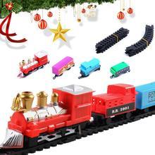 Мини Рождественский Электрический Поезд Классический вагон отсек игрушки для детей Подарки для детей 142 м Периметр