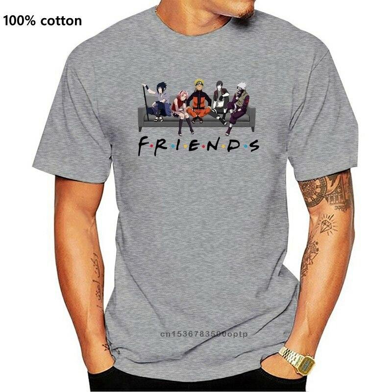 Мужская футболка с надписью друзья Наруто версии диван женская футболка