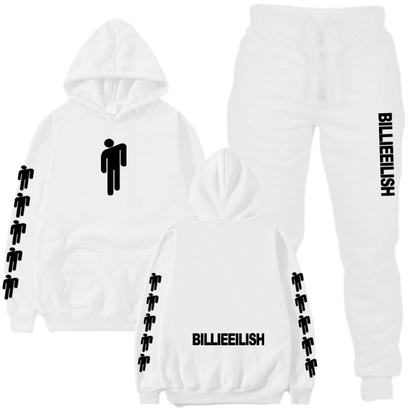 2019 Billie Eilish Autumn Winter Tracksuit Women Men Sweatshirts Casual Suit Women Clothing Suit Jogging Pant Sporting Suit