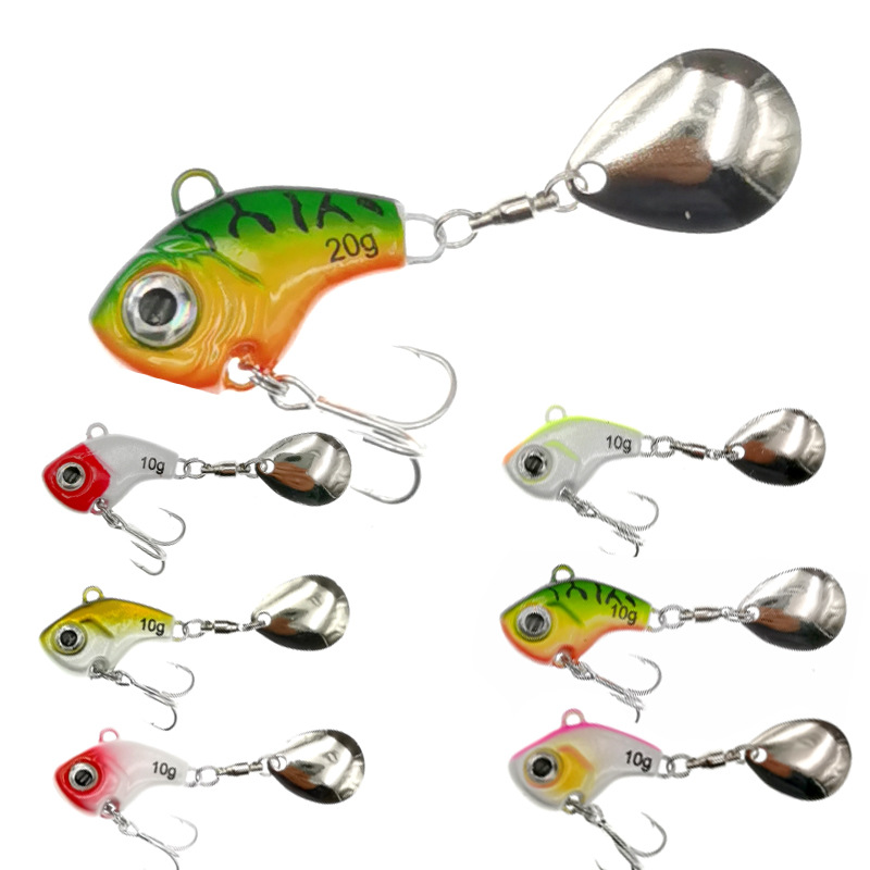1Pcs Rotating Metal VIB vibration Bait Spinner Spoon Fishing Lures 5/10/15/20g Jigs Trout Winter Fishing Hard Baits Tackle Pesca