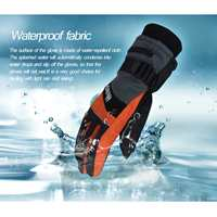 Winter Thermal Gloves Waterproof Electric Heated Gloves With Battery Box For Bicycle Snow Skiing Climbing Heating Gloves