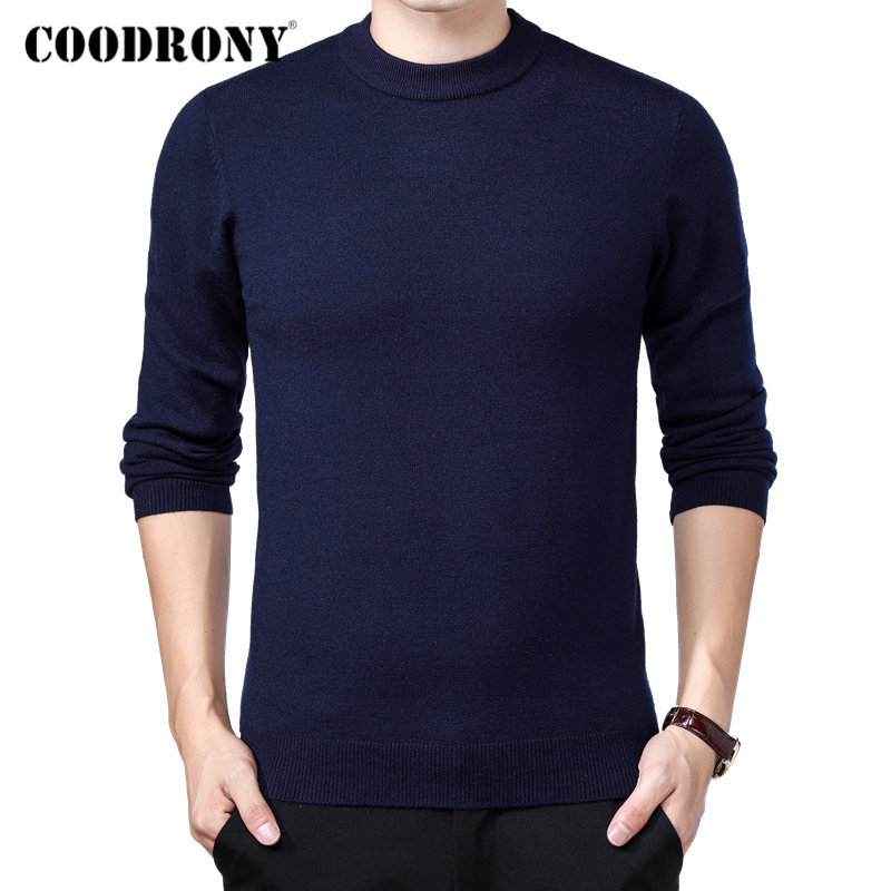 COODRONY Brand Sweater Men Autumn Winter Thick Warm Pull Homme Classic Casual O-Neck Pullover Men Cashmere Woolen Knitwear 91109