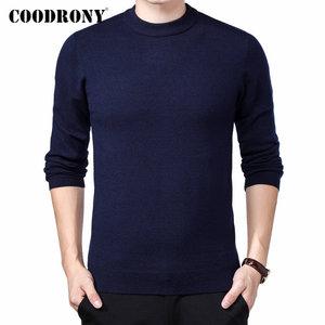 Image 1 - COODRONY marka sweter mężczyźni jesień zima gruby ciepły Pull Homme klasyczny Casual O Neck sweter mężczyźni Cashmere wełniane dzianiny 91109