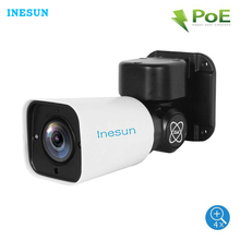 Inesun câmera de segurança externa ptz ip, câmera de segurança 5mp super hd 2560x1920 4x, zoom óptico de 120ft ir noite vison ip66 à prova d água
