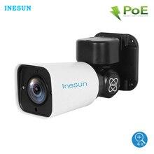Inesun caméra de surveillance extérieure PTZ IP PoE Super HD 5MP, dispositif de sécurité, étanche IP66, avec Zoom optique x4 2560x1920, vision nocturne infrarouge 120 pieds