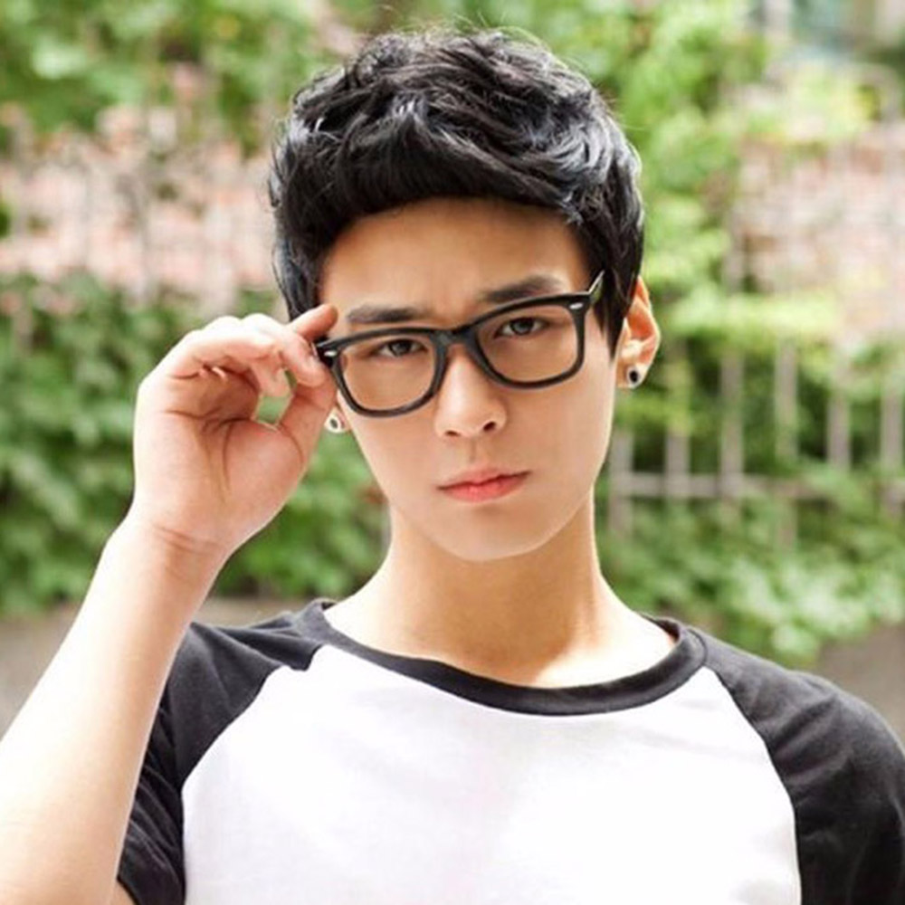 Soowee Handsome Sunshine Korean Men's Short Hair Wigs For Men Synthetic Hair Cosplay Wig Curly Boy Natural Hair Headwear