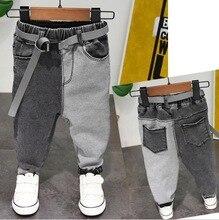 Babie lato chłopięce spodnie jeansowe dziecięce ubrania bawełniane dorywczo spodnie dziecięce nastolatek Denim chłopięce ubrania 2 7Year