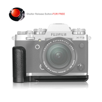 Meike MK-XT3G Aluminum Alloy Hand Grip Quick Release Plate L Bracket for Fujifilm X-T3