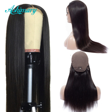 Ashimary 4x4 Lace Closure Wigs Remy Brazilian Human Hair