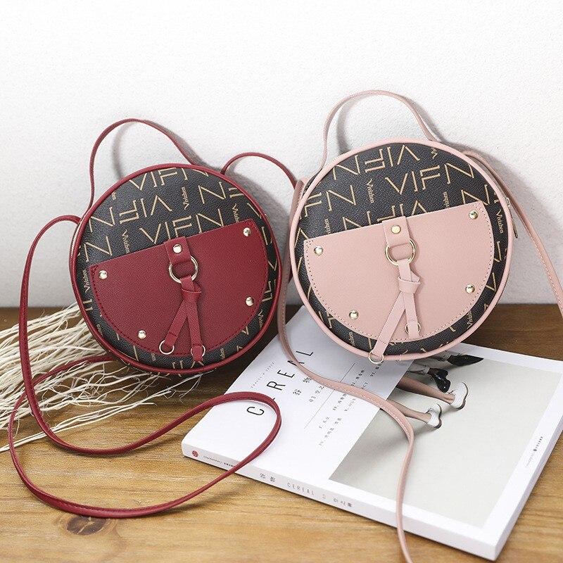 Women's shoulder bags 2020 tassel small round Handbag simple wild shoulder bags fashion retro wind Messenger bag
