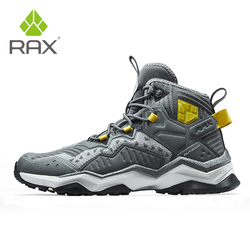 RAX Mens Waterproof Hiking Shoes Breathable Trekking Boots Outdoor Sports Sneaker Men Mountain Boots Camping Hunting Boots Unsex