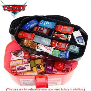 Image 5 - ディズニーピクサーカーズおもちゃ駐車場ポータブルライトニングマックィーン収納ボックス (なし車) ブランドの新株式 · 送料無料