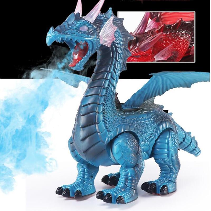 controle remoto brinquedo animal spray dinossauro controle remoto dragao de gelo fogo dragao vai pulverizar fogo