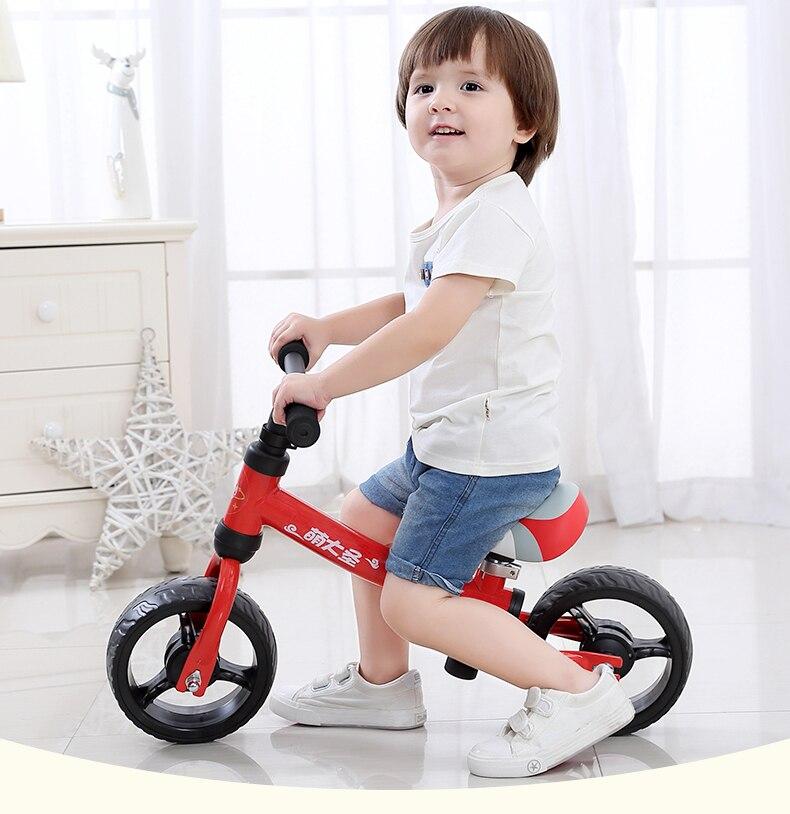 H54c70fcbf3b146ec959fe9e7baa6a9f9q High Carbon Children Balance Bike Walker Kids Ride on Toy Gift for 1.5-3Years Children for Learning Walk Scooter 8inch Kids Bike