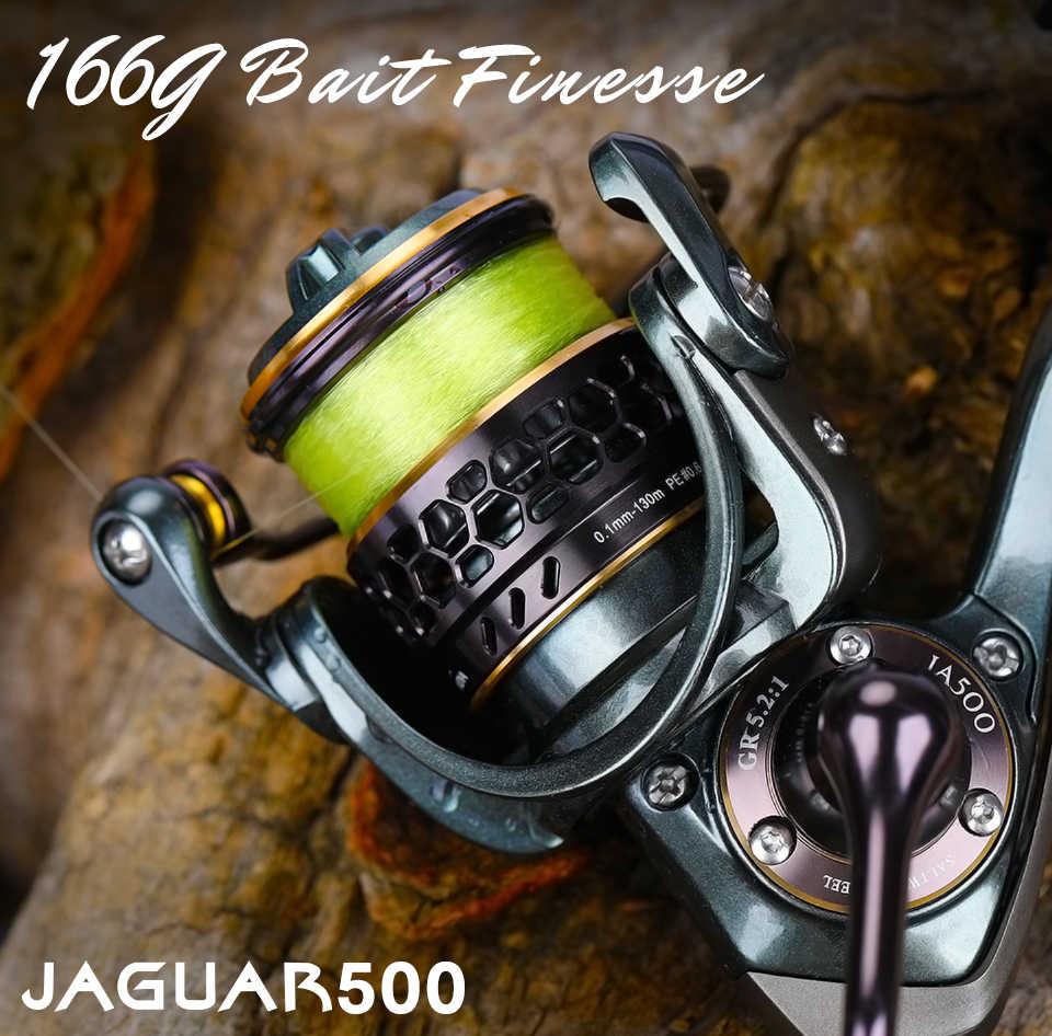 Tsurinoya Aas Finesse Dubbele Spoelen Ultralight Spinning Vissen Lokken Reel Jaguar 500 4Kg Slepen Power 166G Bfs Forel ajing Reel