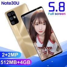 Note30u barato smartphones android 512 mb ram + 4 gb rom memória capacidade câmera 3g celular celular