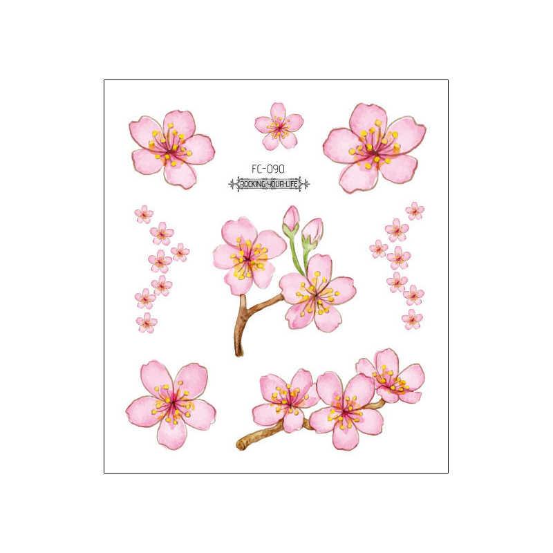 Autocollant De Tatouage Temporaire Fleur De Cerisier Petit Dessin Anime Mignon Fleur Decalcomanie Art Corporel Poitrine Bras Cou Visage Mains Design Tatouage De Mode Aliexpress