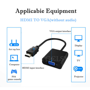 Image 4 - FGCLSY HDMI to VGA Adapter Converter Male To Famale 1080P Digital to Analog Video Audio Adaptor for PC Laptop Tablet to TV