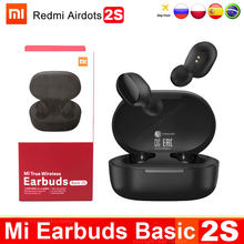 Original xiaomi redmi airdots 2 s fone de ouvido mi verdadeiro fones sem fio básico 2 s bluetooth 5.0 air2 se tws mic modo de jogo em estoque