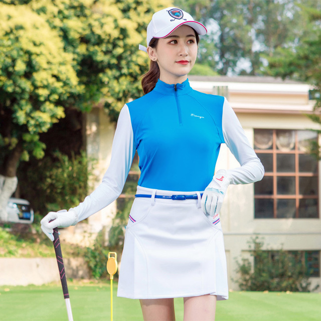 Womens Golf Apparel Summer Outdoor Sport Clothing Sun protection Shirt Underwear Golf Anti- UV Ice T-shirts Long Sleeve Clothes