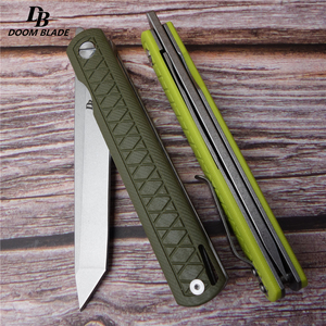 "Image 4 - 8.5"" FH11 60 61HRC Knives 5 Color D2 Blade G10  Handle Folding Knife Plus Pocket EDC Folding Knife Camping Utility Outdoor EDC"