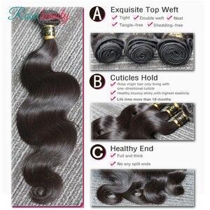 [Rosabeauty] OneCut волнистые волосы для тела 8-28 30 32 дюйма H бразильские необработанные волосы натуральный цвет 100% человеческие волосы плетение 4 пря...