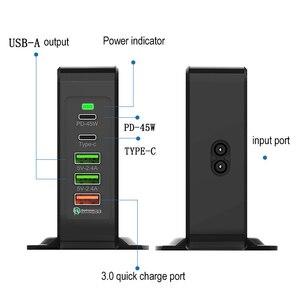 Image 2 - Có Cổng USB Sạc Điện Thoại Di Động 75W QC3.0 Laptop Nhanh Điện Dock Nhanh Chóng Sạc Wirless Sạc Loại C PD 45W Cổng