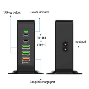 Image 2 - Multi Port USB Mobile Phone Charger 75W QC3.0 Laptop Fast Power Adapter Dock Quickly charging wirless charge type c  PD 45W Port