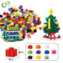 1000/500Pcs Building Blocks Mini Diamond Micro Building Blocks DIY Creative Bricks Bulk Model Figures Educational Kids Toys GYH