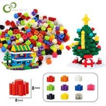 1000/500Pcs Bausteine Mini Diamant Micro Bausteine DIY Kreative Ziegel Groß Modell Figuren Educational Kinder Spielzeug GYH