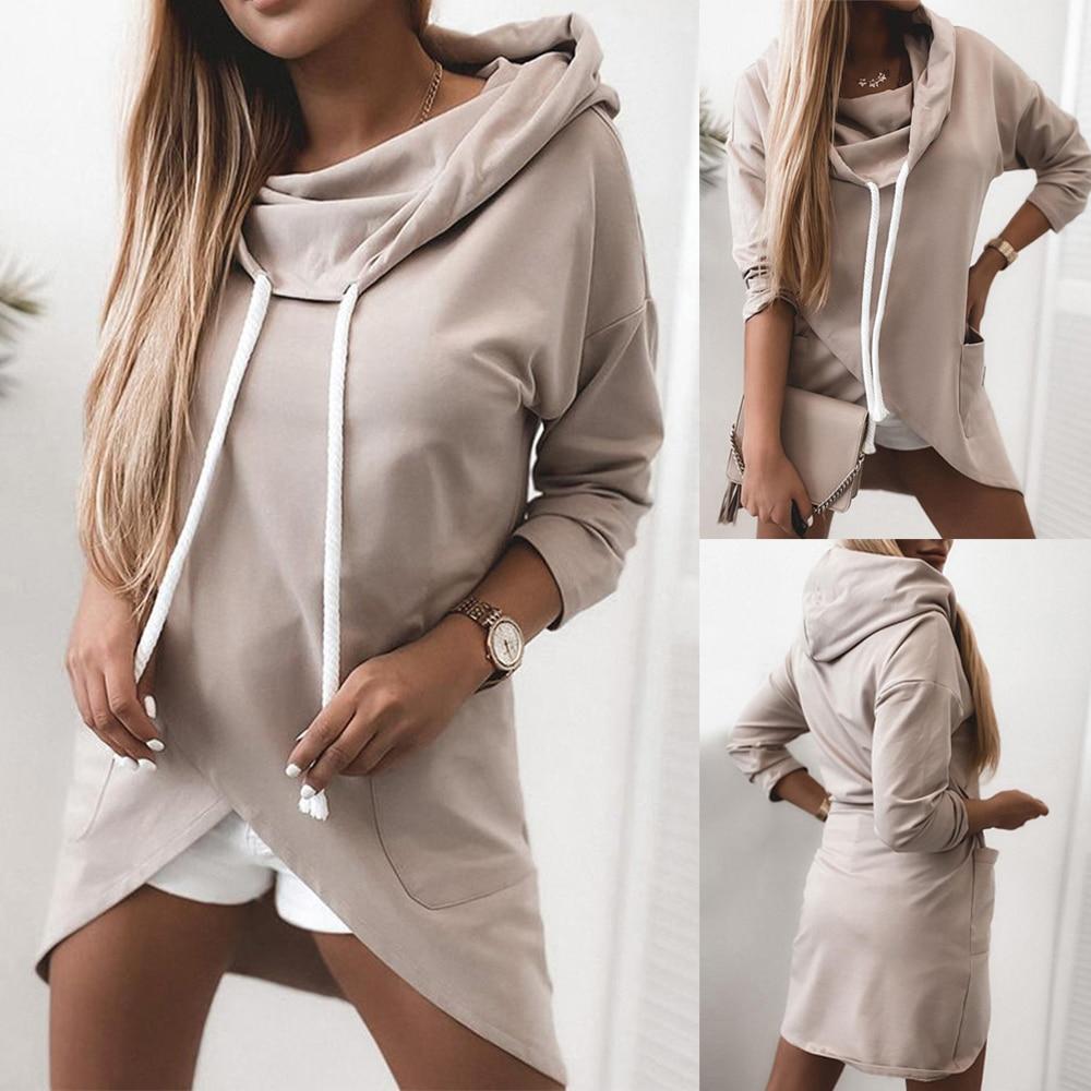 Women Hoodies Sweatshirts 2020 Autumn Winter Plus Size Long Sleeve Pocket Tops Hoodie Female Casual Warm Hoodie Sweatshirt Women
