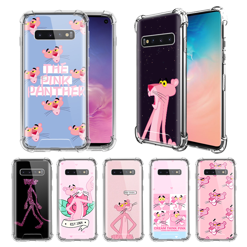 Pink Panther <font><b>Funny</b></font> <font><b>Case</b></font> For <font><b>Samsung</b></font> Galaxy S10e S20 S10 5G S9 S8 Plus <font><b>Note</b></font> 10 Lite <font><b>9</b></font> 8 Airbag Anti-Fall TPU Phone Covers image