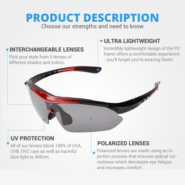 Hot! Rockbros polarizado ciclismo óculos de sol ciclismo ao ar livre esporte da bicicleta estrada mtb tr90 óculos de proteção masculino 5 lente 2