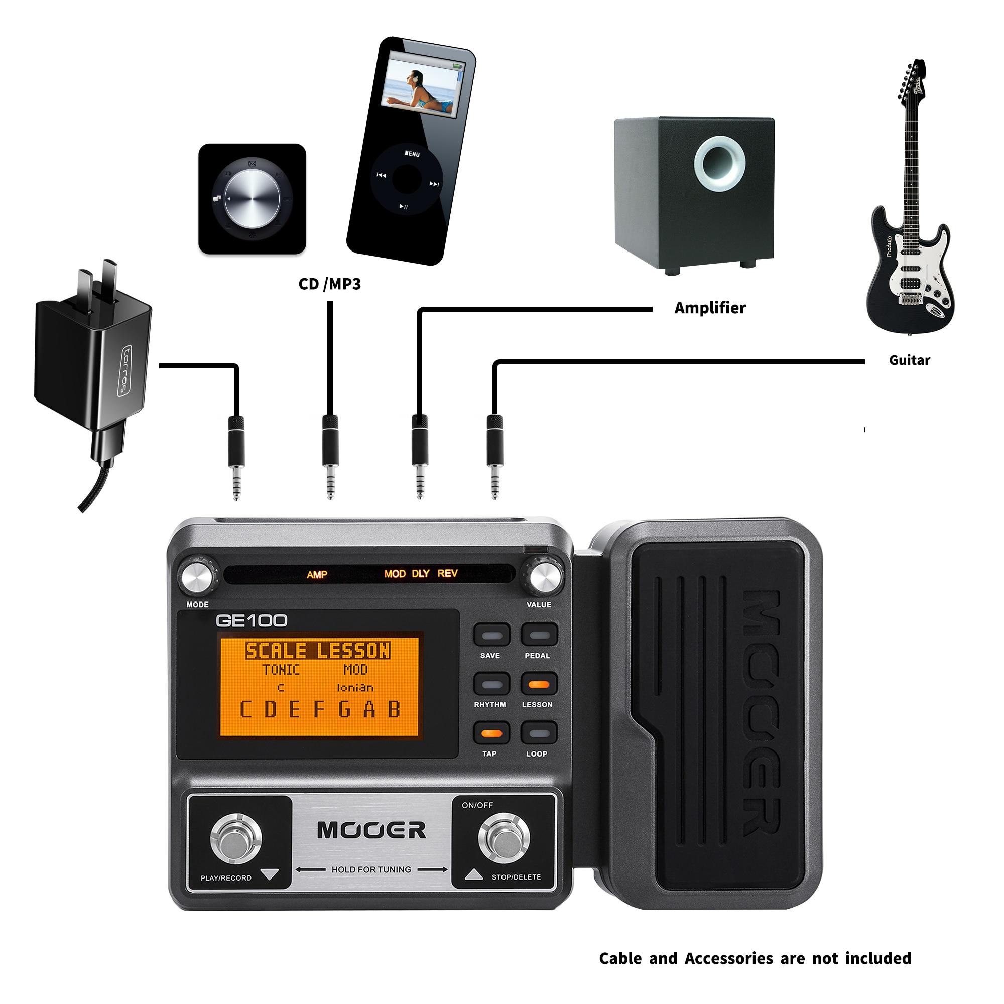 MOOER GE100 Pedal efecto procesador multiefectos con grabación en bucle  (180s),MOOER GE150 guitarra Pedal Amp modelado Looper(80s) Partes y  accesorios de guitarras  - AliExpress