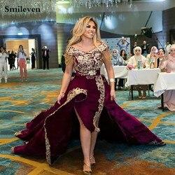 Smileven Caftan 2 pièces robe de soirée hors épaule algérienne occasion spéciale robes dentelle robes de soirée