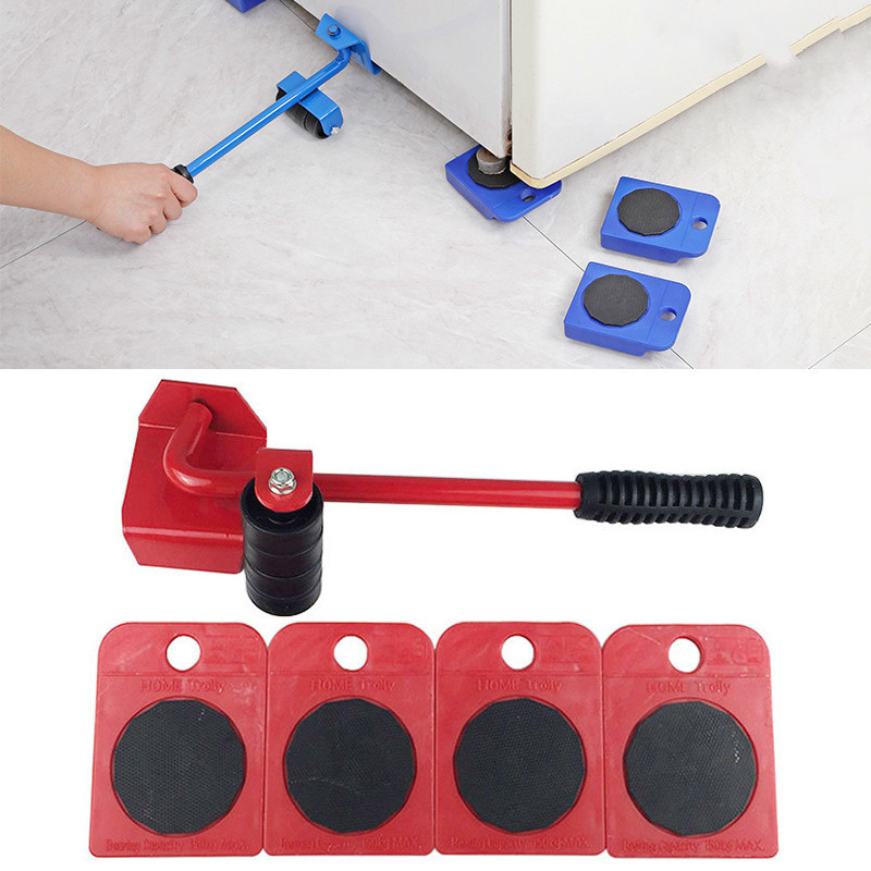2019 5Pcs Furniture Transport Roller Set Removal Lifting Moving Handling Tool Heavy Move House Accessories Dropship Blue
