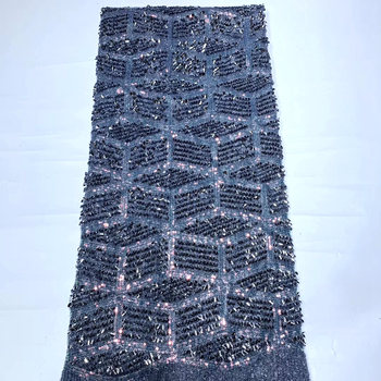 New arrival african sequins Lace fabric High quality 2020 African french sequince lace fabric mv604