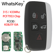 WhatsKey 5 Button Remote Car Key 315Mhz 433Mhz PCF7953 Chip For Land Rover Discovery Range Sport JAGUAR KOBJTF10A